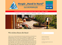 "WEBSITE Hospiz ""Hand in Hand"" Luckenwalde"