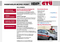 WEBSITE Ingenieur-Büro Post Teltow