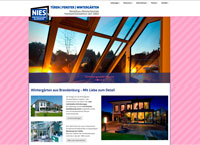 WEBSITE Fenstertechnik Nies Blankensee