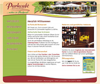 WEBSITE Parkcafé Restaurant Luckenwalde