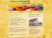 "WEBSITE Pension ""Stadtmitte"" in Luckenwalde"